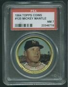 1964 Topps Coin Coins 120 Mickey Mantle Psa 7 6716