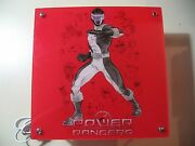 Mighty Morphin Power Rangers Red Square Light Lamp Good Working Condition