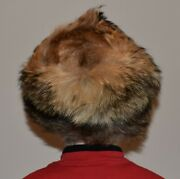 Vintage Real Fox Fur Hat Pill Box Bought In Russia Circa 1990's