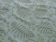 16.75y Old World Weavers Fossils- Embroidery Msrp372 Light Green On Off White