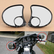 Split Vision Fairing Mount Mirrors For Harley Electra Glide Ultra Limited 14-up