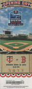 2010 Minnesota Twins Opening Day Ticket - Inaugural Game Played At Target Field
