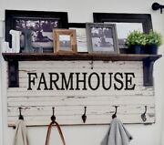 Set Of 2 Large Farmhouse Vinyl Wall Decal Sign Fixer Upper Rustic Home Decor