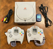 Sega Dreamcast Console Complete Cleaned/sanitized Free Shipping
