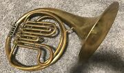 Vintage Brass French Horn Musical Instrument Decor Agostino Rampone Milano Italy