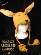 Delux Kangaroo Hat Knit Adult Puppet Lnd Wallaby Costume Mittens Separate Delux