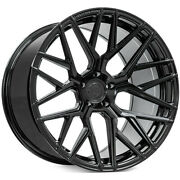4 20x10/20x12 Staggered Rohana Wheels Rfx10 Gloss Black Rims B32