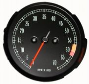1965-1967 Corvette Tachometer Assembly With 6000 Rpm Red Line