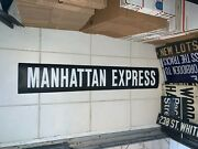 Nyc Bus Roll Sign Manhattan Express Uptown Downtown Collectible East West Side