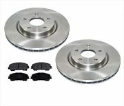 Front Disc Brake Rotors And Ceramic Pads 14-18 For Nissan Rogue With 2 Row Seating