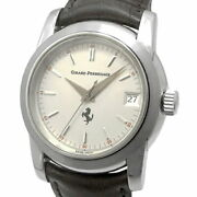 Girard-perregaux Ferrari 8025 Automatic Silver Stainless Leather Round 36mm Mens