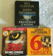 Lot Of 3 Audio Books By James Patterson President Is Missing Zoo 6th Target