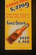 1940s Great Gold Stripe Beer And Ale Gold's Drug Stores Union City Jersey City Nj