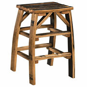 Barrel Stave Bar Stool Amish Made Reclaimed Barrel Wood Free Shipping