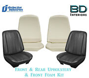 1970 Chevelle Bucket And Rear Bench Upholstery Covers Any Color W/ Front Foam