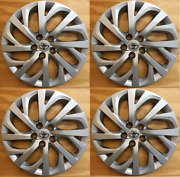 4 Xfull Set Silver Hubcap Will Fit Your 2017 2018 2019 Toyota Corolla 16 61181