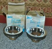 Jameco Chrome Plated Duo Sink Strainers No 2-8-3 Never Used Heavy Duty