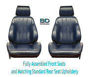 1966 Chevelle Touring Ii Front Bucket Seats Assembled And Std Rear Seat Upholstery