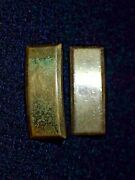 Ww2 Us Army Usaaf Officers' Rank Insignia Device Pair 2nd Lieutenant Ns Meyer Vg