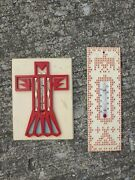 Lot Of 2 Vintage St Labre Indian School Thunderbird Thermometer Native American