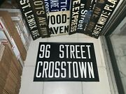 Ny Nyc Bus Roll Sign 96 Street West End Avenue East Side Crosstown Midtown Decor