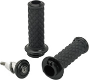 """Biltwell Alumicore Grips Sets Black Dual Cable 1"""" Motorcycle Bars 6604-201-01"""