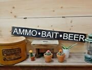 Ammo Bait Beer Wood Sign/fishing/drinking/cabin/vintage/hunting/boat Dock