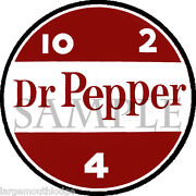 3 Inch Dr. Pepper Decal Gumball Nut Vending Machine