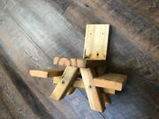 Squirrel Feeder Picnic Table - Solid Wood - Made In Usa