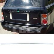 For Range Rover L322 Vogue Chrome Rear Trunk Tailgate Trim 2002-2012 S.steel