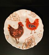 Pier 1 Imports Gallo 9 Rooster Salad Plate Ironstone Dinnerware
