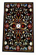 48 X 32 Marble Table Top Pietra Dura Marquetry Floral Inlay Art Work