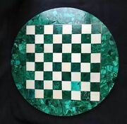 36 Marble Chess Malachite Table Top Green Handmade Work Home And Garden