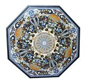 42 Marble Coffee Dining Table Top Semi Precious Multi Stones Inlay Marquetry