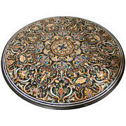 48 X 48 Round Dining Table Top Marble Inlay Pietra Dura Work Home And Garden