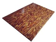 48x 36 Marble Dining Table Top Tiger Eye Stone Inlay Handmade Home Decor