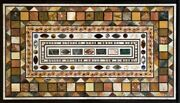 48 X 24 Marble Table Top Pietra Dura Handcrafted Inlay Home Decor