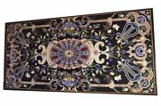 48 X 24 Marble Table Top Pietra Dura Floral Inlay Work Home Decor
