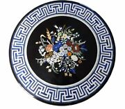 42 Marble Center Dining Table Top Pietra Dura Marquetry Inlay Work Home Decor