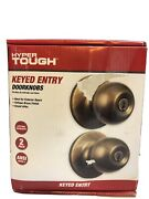2-hyper Tough Keyed Entry Doorknobs-antique Bronze Finish-easy To Install
