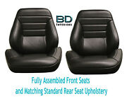 1965 Chevelle Touring Ii Front Bucket Seats Assembled And Std Rear Seat Upholstery