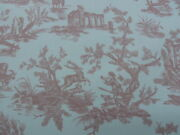28y Scalamandre Old World Weavers French Country Toile Gaiety Toile-pink