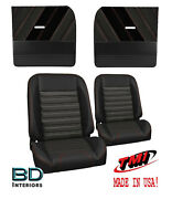 Sport R Pro Classic Seats And Flat Door Panel Kit For 1955-1959 Chevy Trucks - Tmi
