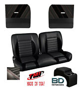 Sport R 55 Bench Seat Flat Door Panel And Console Kit 1955-1959 Chevy Trucks