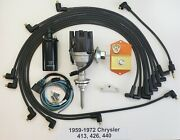 1959-72 413 426 440 Chrysler Electronic Distributor Conversion Kit + Wires +coil
