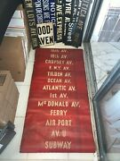 Ny Nyc Bus Subway Roll Sign Trolley Airport Cropsey Coney Island Beach Ferry Art