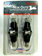 Rupp Nok-outs Boat Fishing Outrigger Release Clips Ca-0023 - 2 In Pack - New