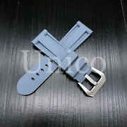26 Mm Gray Rubber Silicone Strap Band Soft Vintage Replacement Diver 2021 Sport