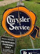 1920and039s Original Chrysler Service Porcelain Advertising Sign Not Ford Jeep Neon