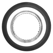 500-16 Motorcycle Dbl 2 Whitewall Tire 130/90and140/90-16 Eqiv. Coker 63375